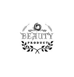 badge for small businesses - beauty product salon vector image