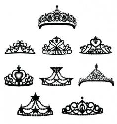 crown tiara vector image