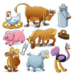 Farm Animal Collection vector image vector image