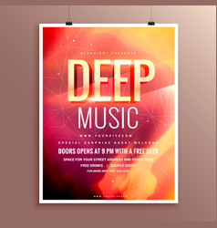 Music flyer brochure poster template design for vector