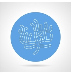 Round blue icon for coral vector image