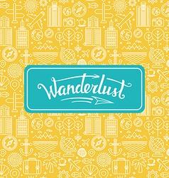 wanderlust logo vector image vector image