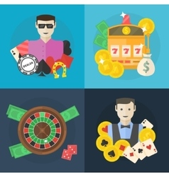 Casino or poker flat vector image vector image