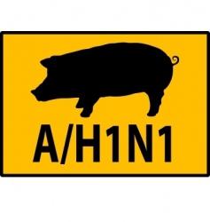 h1n1 swine flu sign vector image