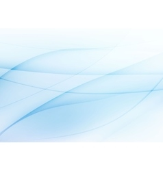 Abstract light blue wavy background vector image vector image