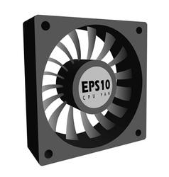 Computer fan vector image vector image