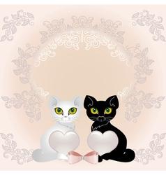 elegant cats vector image