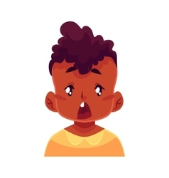 Little boy face surprised facial expression vector image vector image