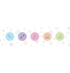 5 brush icons vector