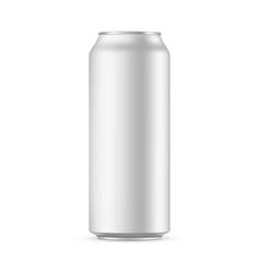 500ml aluminium drink can mockup isolated vector