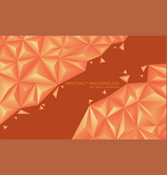 abstract orange tone triangle 3d design modern vector image