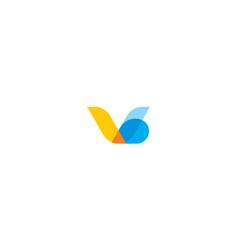 abstract v digital logo icon technology vector image