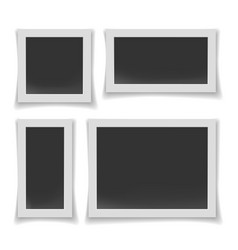 album or walls photo frames vector image
