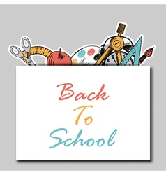 Back school vector image