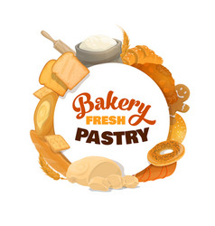 baking bread sweets and pastry vector image