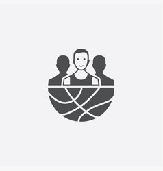 basketball team icon vector image