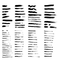 big collection of grunge brushes vector image