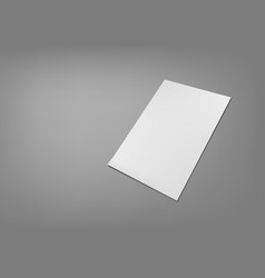 blank paper sheet for brochure top view vector image