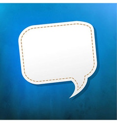 Blue Texture With Speech Bubble vector image