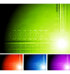 Bright design with arrows vector image