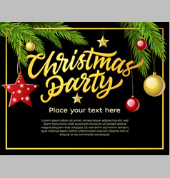 Christmas party - modern with vector