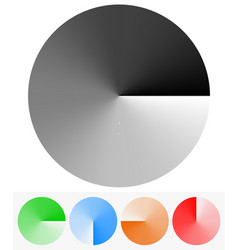 Circular elements with transparency opacity mask vector