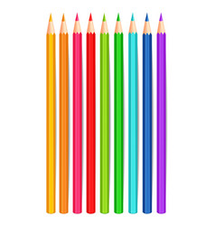 colorful crayons realistic isolated vector image