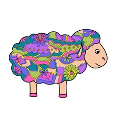 Colorful sheep vector image