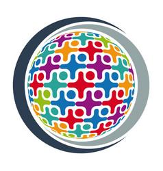community logo icon vector image