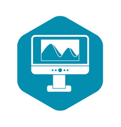 Computer monitor with photo on screen icon vector