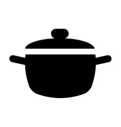 cooking pot kitchen food pictogram vector image