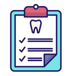 Dental checkup linecolor vector