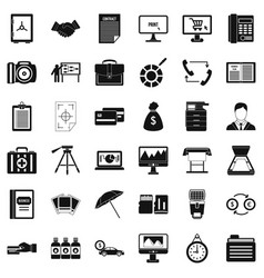Department equipment icons set simple style vector