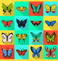 Design exotic and botanic logo set of vector