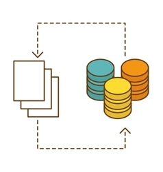 distributed database icon image design vector image