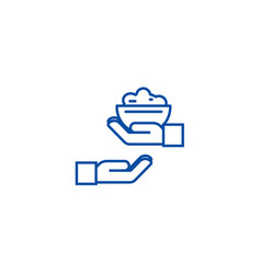 donate food line icon concept donate food flat vector image