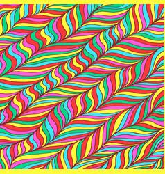 doodle pattern background entangle art rainbow vector image