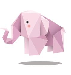 Elephant low polygon vector