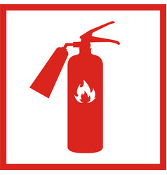 Fire extinguisher icon isolated on background vector