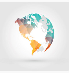 Geometric globe earth planet america vector