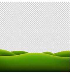 green landscape isolated transparent background vector image