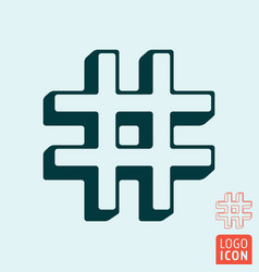 hashtag icon template hash tag symbol outline vector image