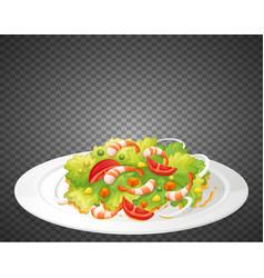 Healthy salad on transparent background vector