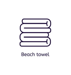 Icon of beach towel on a white background vector