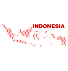 indonesia map - mosaic of lovely hearts vector image