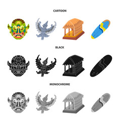 Isolated object of travel and tourism symbol set vector