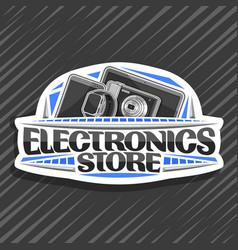 logo for electronics store vector image