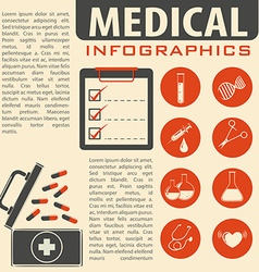 Medical infographic with text and symbols vector image