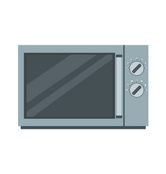 microwave oven icon kitchen food cooking vector image