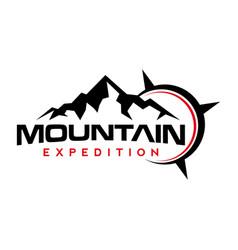 Mountain logo peak mountain expedition outdoor vector